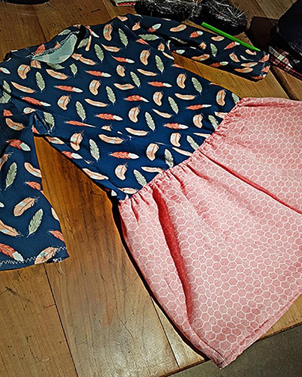 réalisation couture ensemble jupe